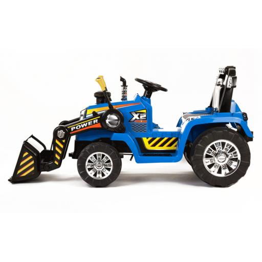 12V Kids Electric Ride On Tractor With R/C Twin Motor Tractor