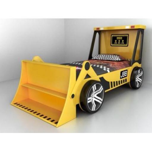 Keyni Yellow Tractor Digger Kids Bed